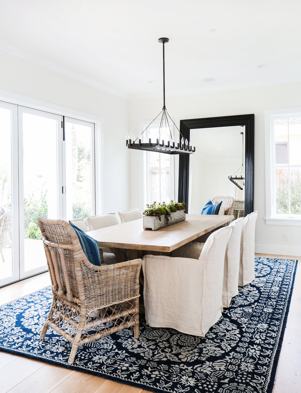 A breezy indigo dining room by Blackband Design gets recreated for ...