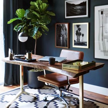 Copy Cat Chic Room Redo | Modern Eclectic Home Office