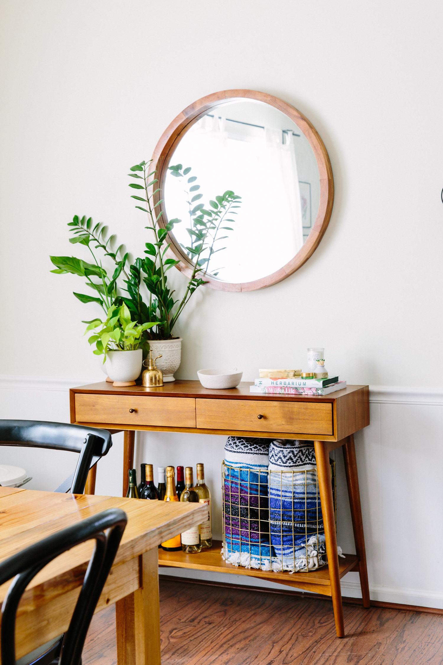 west elm mid century console copy cat chic. Black Bedroom Furniture Sets. Home Design Ideas