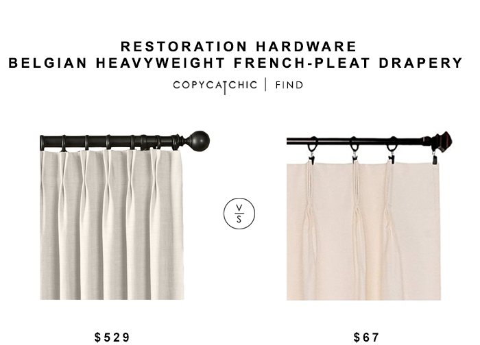 Restoration Hardware Belgian Heavyweight French Pleat