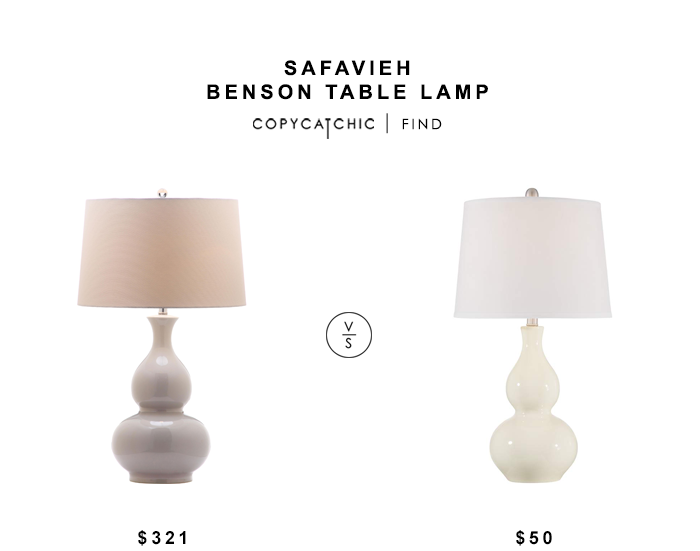 Safavieh Benson Table Lamp for $321 vs 360 Lighting Fergie Ceramic Table Lap for $50 copycatchic luxe living for less budget home decor and design