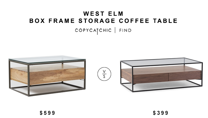 West Elm Box Frame Storage Coffee Table for $599 vs Axel Coffee Table for $399 copycatchic luxe living for less budget home decor and design