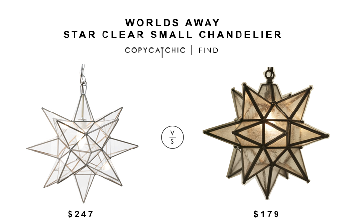 Layla Grayce Worlds Away Star Chandelier for $247 vs Pottery Barn Olivia Star Pendant for $179 copycatchic luxe living for less budget home decor and design