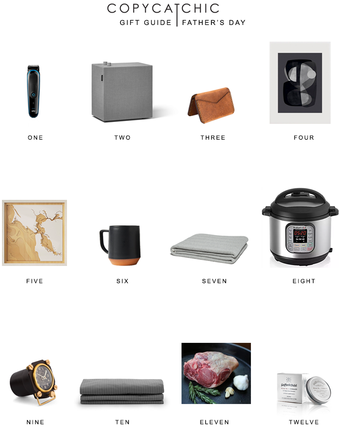 Modern minimalist gift ideas for Fathers Day. Gift guide Copy Cat Chic hipster favorites for the dads in your life | Luxe living for less