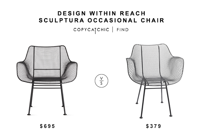 Design Within Reach Sculptura Occasional Chair $695 vs Modern Wire Chair for $303 copycatchic luxe living for less budget home decor & design looks for less