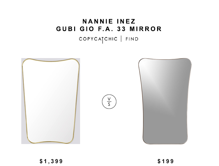Nannie Inez Gubi Gio FA 33 Mirror for $1399 vs CB2 Elroy Walnut Wall Mirror $199 copycatchic luxe living for less budget home decor & design looks for less