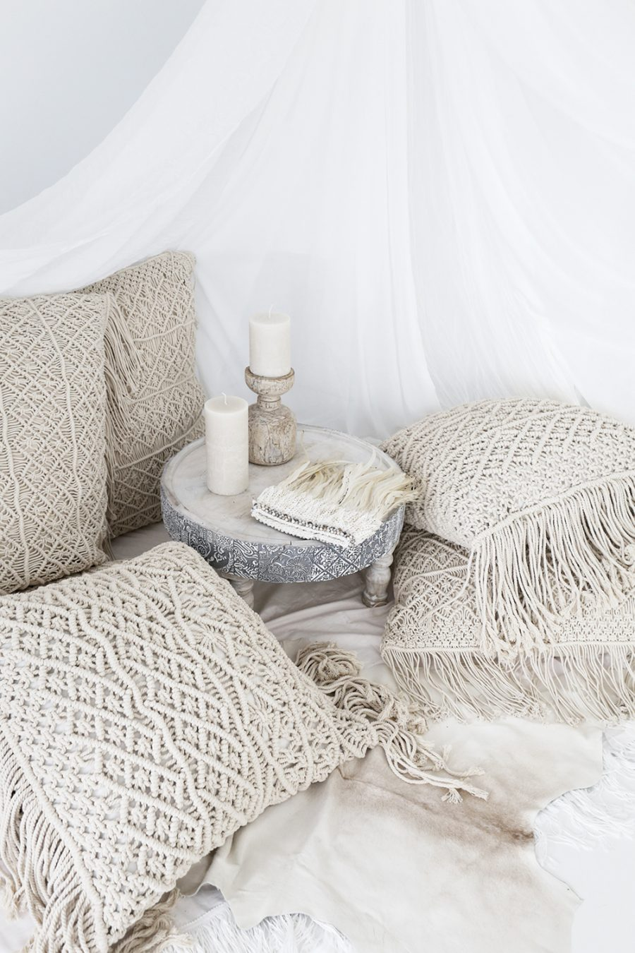 Anthropologie Fringed Diendra Pillow for $88 vs Mara Macrame Decorative Pillow for $25 copycatchic luxe living for less budget home decor and design