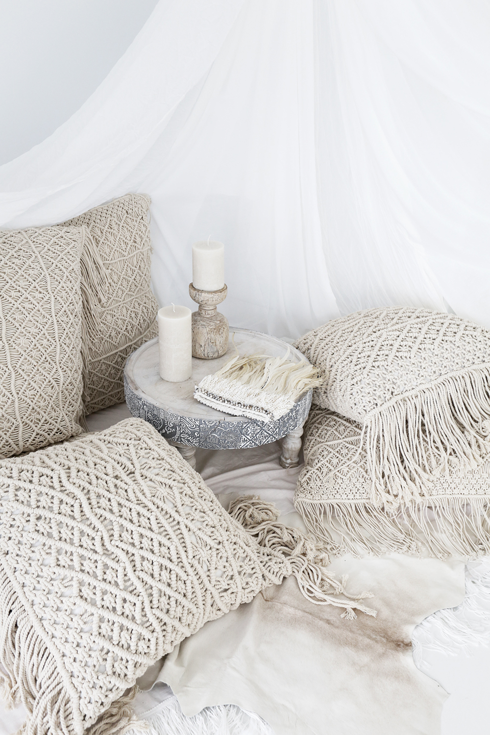 Anthropologie Fringed Dieandra Pillow