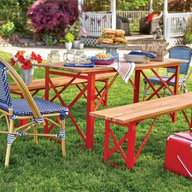 Crate and Barrel Red Picnic Cooler