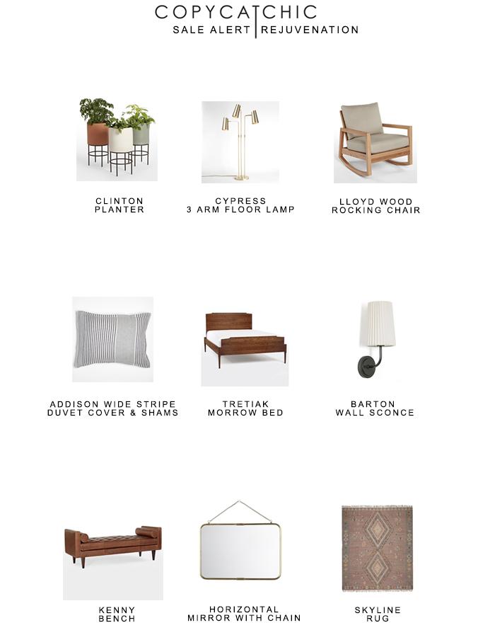 PSA Rejuvenation Exclusive Private Sale 20% Entire Purchase with Code PRIVATESALE17 copycatchic sale alert luxe living for less budget home decor & design
