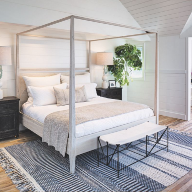 Copy Cat Chic Room Redo | Relaxed and Rustic Bedroom