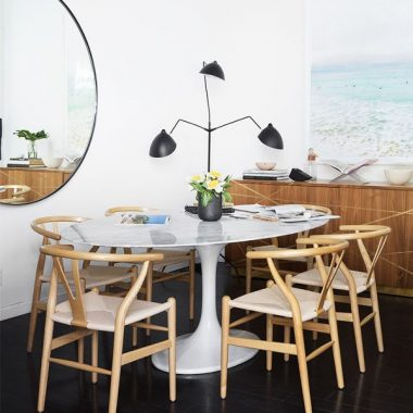 Copy Cat Chic Room Redo | Sleek Coastal Dining Space