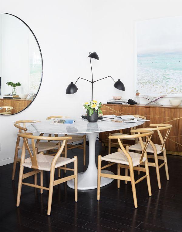 Copy Cat Chic Room Redo | Sleek Coastal Dining Space