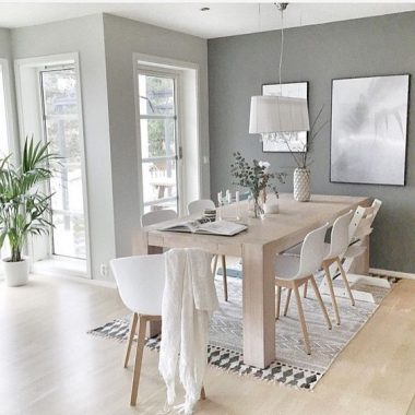 Copy Cat Chic Room Redo | Minimal Scandinavian Dining Room
