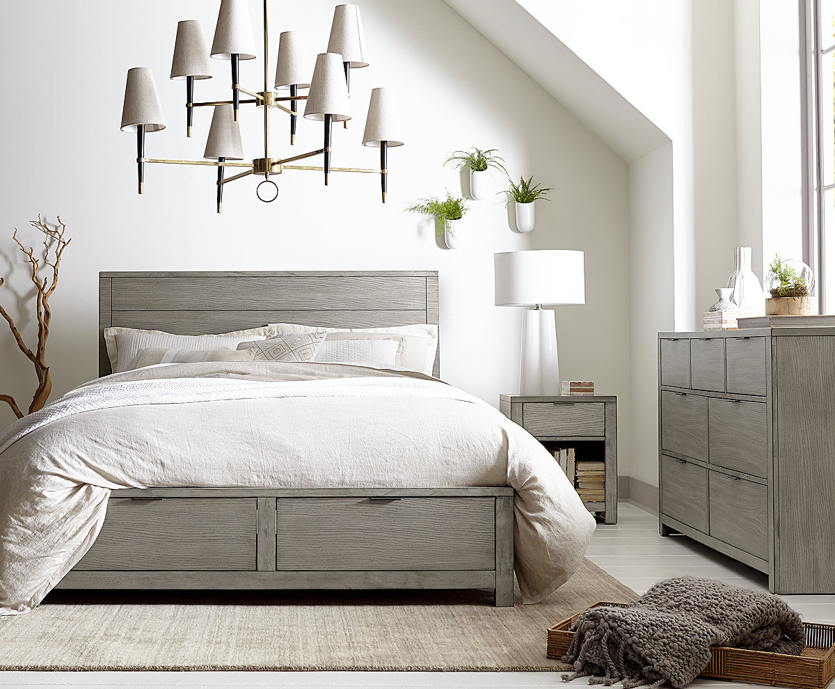 gray modern bedroom daily find restoration hardware machinto 5 drawer 11726