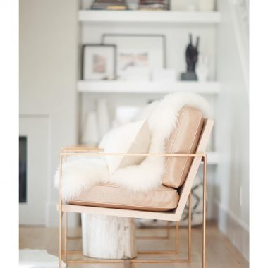 CB2 Icelandic Sheepskin Throw