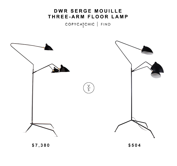 Dwr serge mouille three arm floor lamp copycatchic Serge mouille three arm floor lamp