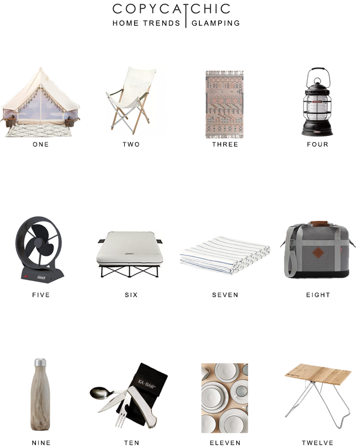 glamping basics 101 | Here's a great list of glamping must-haves from copycatchic luxe living for less budget home decor and design
