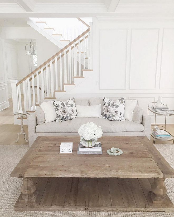Restoration Hardware Balustrade Coffee Table $2895 Vs Edmaire Rustic  Balustrade Coffee Table $677 Copycatchic Luxe Living