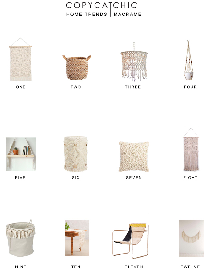 Home Trends | Macrame home decor our favorite picks from copycatchic luxe living for less budget home decor and design looks for less