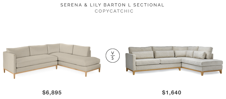 Serena U0026 Lily Barton Sectional For $6895 Vs Wayfair Sofas To Go Ben  Sectional For $1640