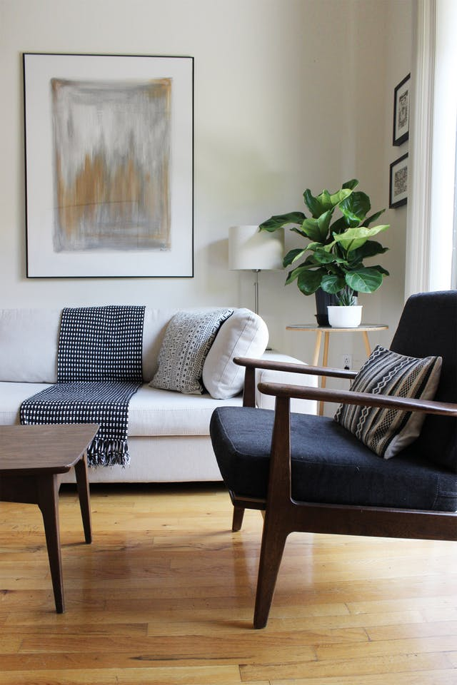 West Elm Mid-Century Show Wood chair for $699 vs World Market Slate Gray Xander Armchair $280 copycatchic luxe living for less budget home decor & design