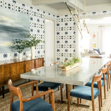 Copy Cat Chic Room Redo | Mid-Century Eclectic Dining Room