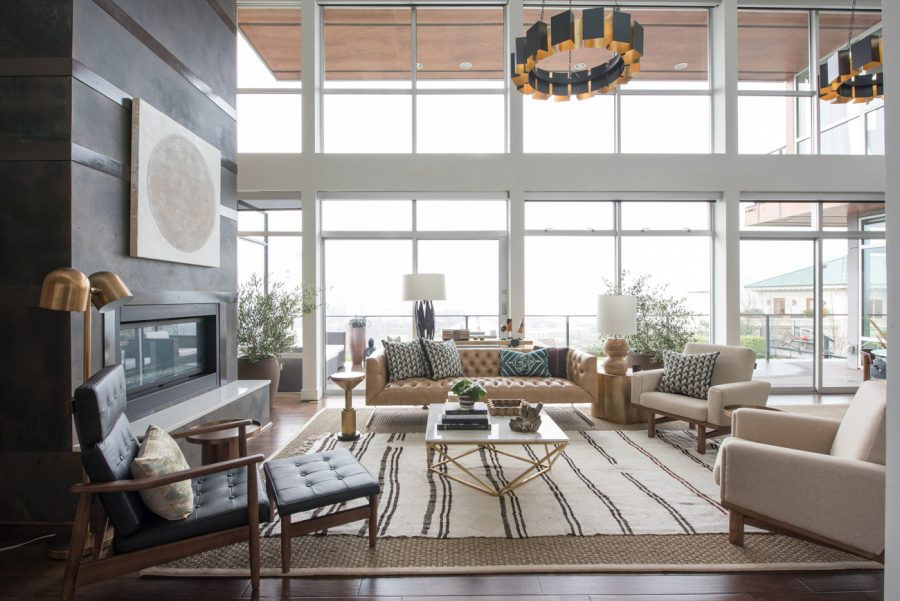 This masculine living room design by Brian Paquette for Decorist gets recreated for less by copycatchic luxe living for less budget home decor and design