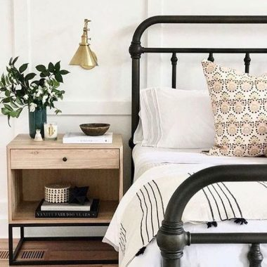 Pottery Barn Coleman Bed for $899 vs Birch Lane Walnut Grove Panel Bed for $429 copycatchic luxe living for less budget home decor and design looks for less