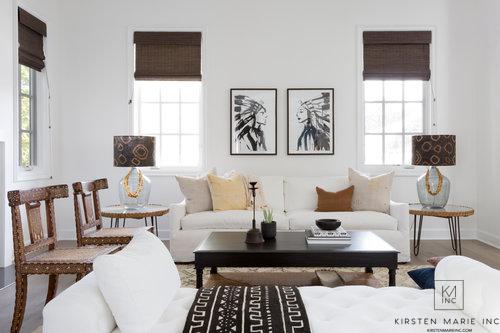 Copy Cat Chic Room Redo | Bright Boho Living Room