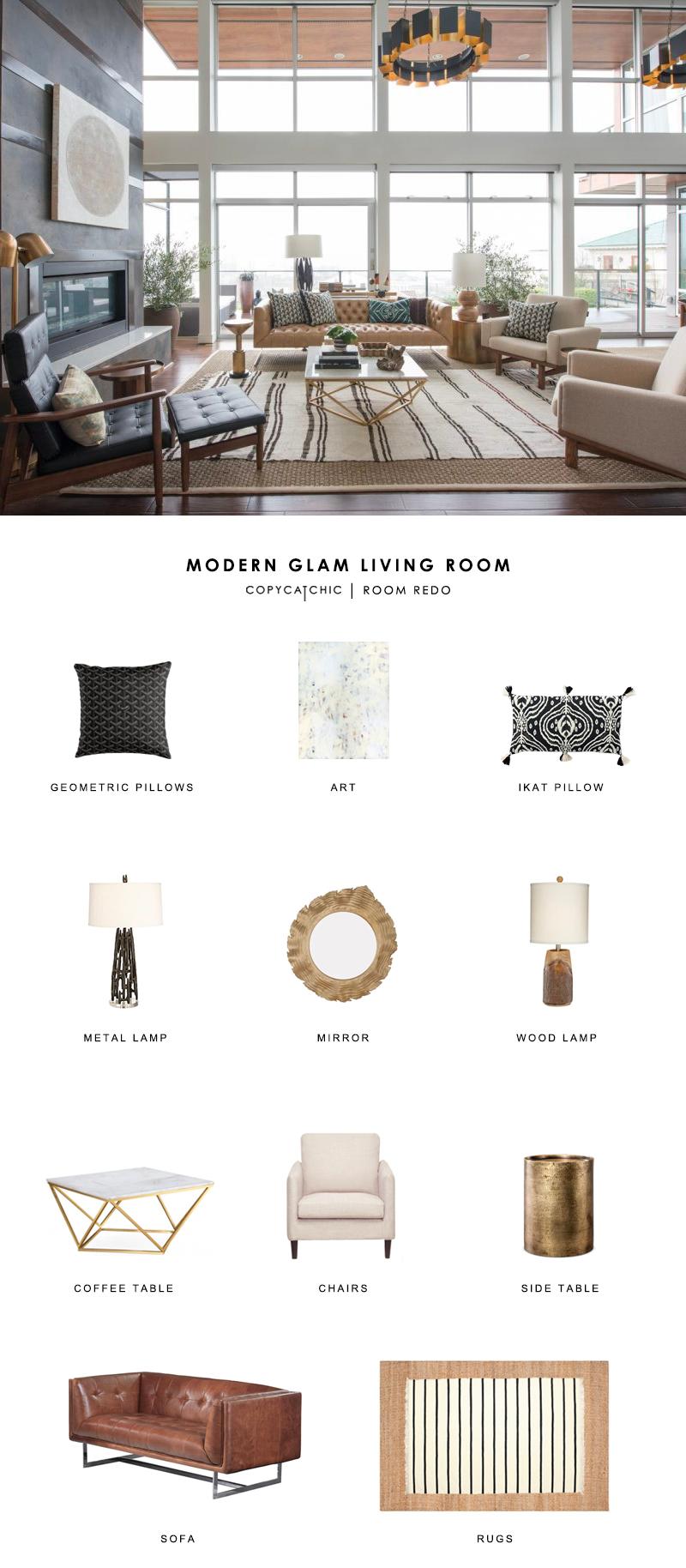 Room Redo Modern Farmhouse Living Room In 2019: Modern Glam Living Room