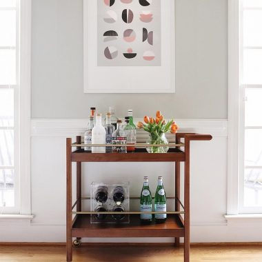 West Elm Mid Century Bar Cart