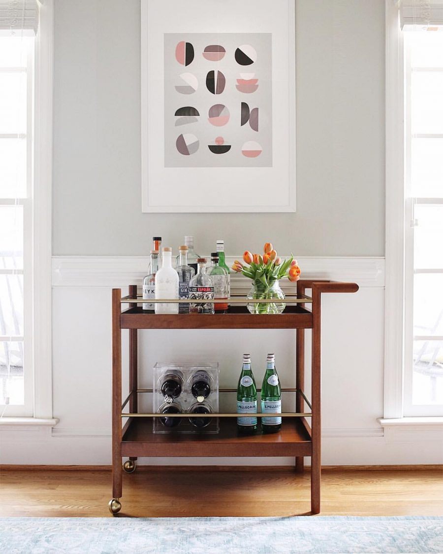 West Elm Mid Century Bar Cart - copycatchic