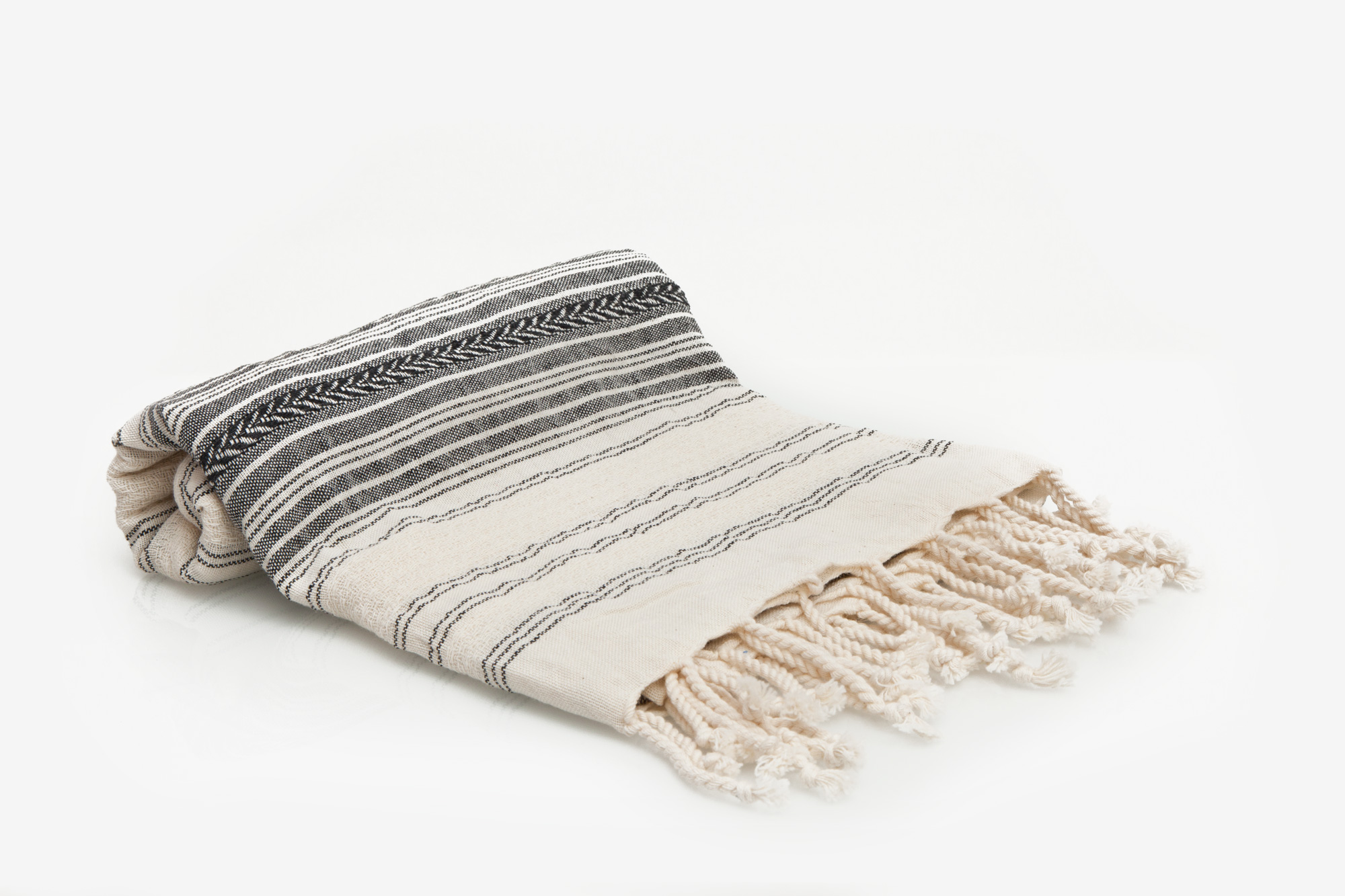Natural and gray Turkish towel hand woven with 100% Turkish cotton. copycatchic luxe living for less
