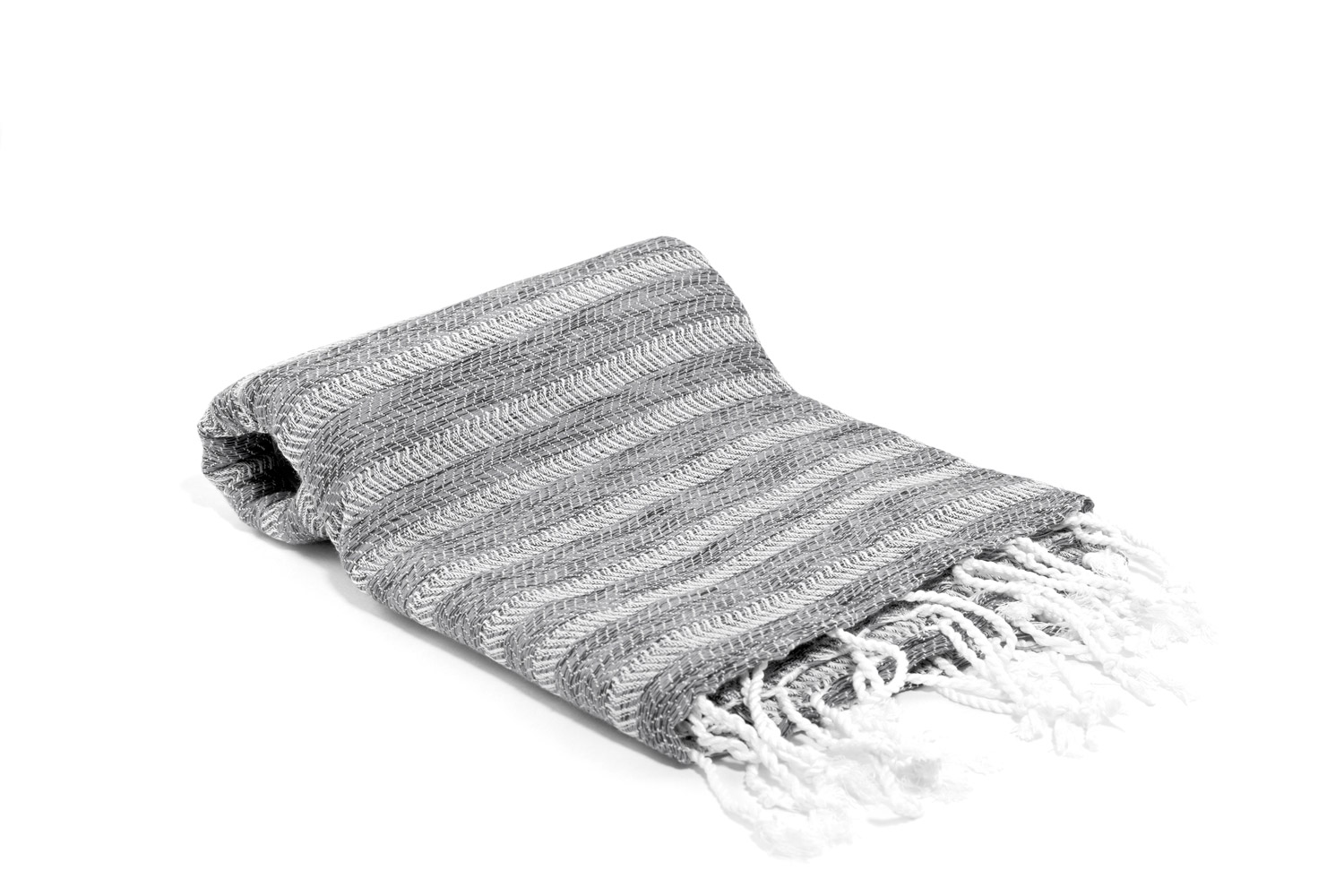 Gray Striped Turkish towel hand woven with 100% Turkish cotton. copycatchic luxe living for less