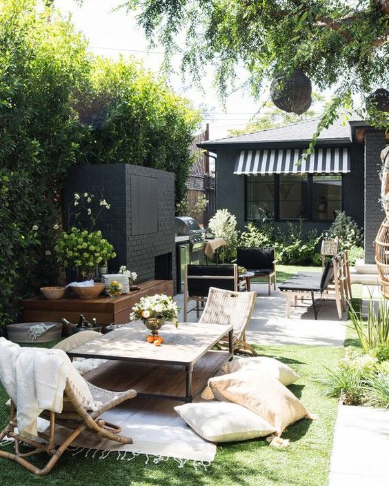 Black White Budget Backyard favorite home trend picks perfect for a backyard budget makeover | copycatchic luxe living for less budget home decor and design