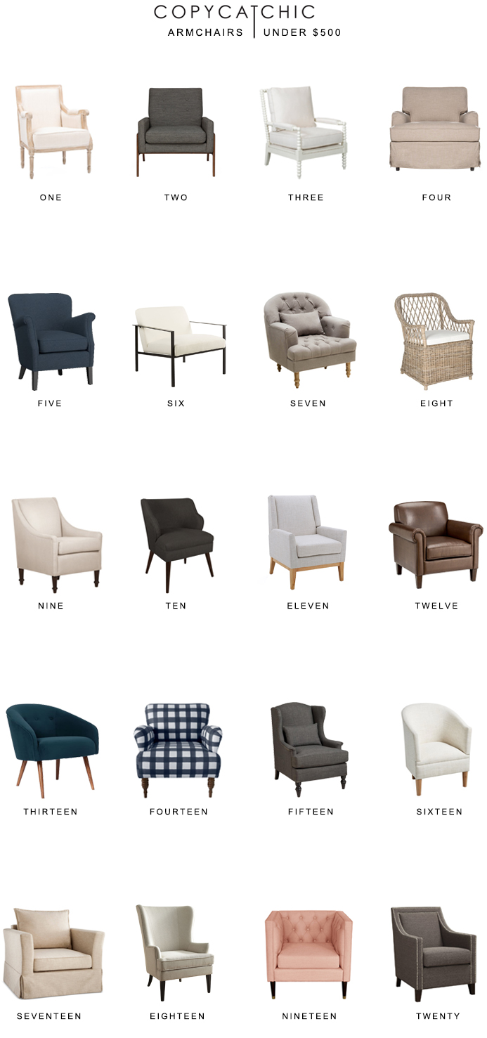 Looking for stylish armchairs under $500? Our favorite armchairs on a budget copycatchic luxe living for less budget home decor and design