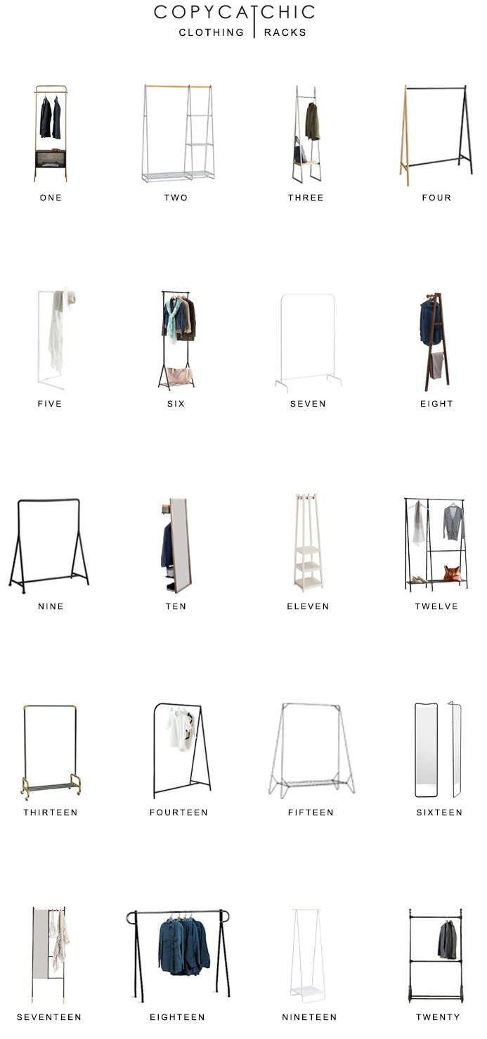 Looking for stylish clothing racks? Here are our favorite closet racks for chic closets copycatchic luxe living for less budget home decor and design