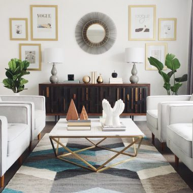 Nuevo Jasmine White Marble and Gold Coffee Table $1213 vs Coleman Leopold White Marble Cocktail Table $475 modern coffee table look for less copycatchic