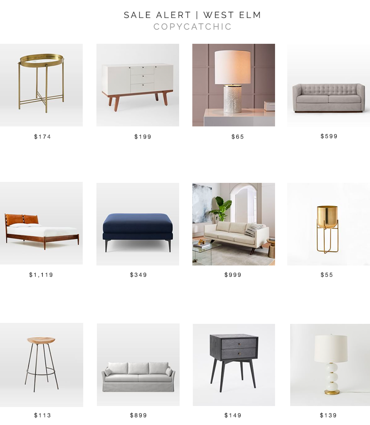 West Elm Sale Up to 70% for one day only! copycatchic luxe living for less budget home decor and design