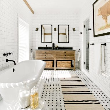 A black and white bathroom by Timothy Godbold recreated on a budget by copycatchic luxe living for less budget home decor and design