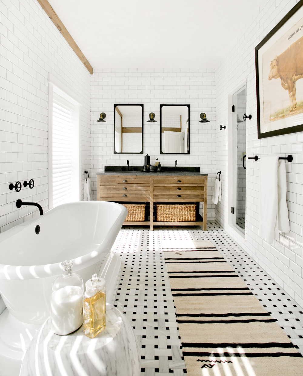 A black and white bathroom by Timothy Godbold recreated on a budget ...