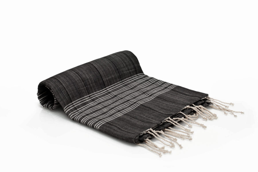 Gray Turkish towel hand woven with 100% Turkish cotton. copycatchic luxe living for less