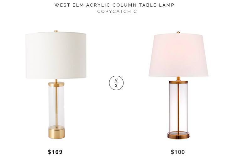Daily Find West Elm Acrylic Column Table Lamp Copycatchic