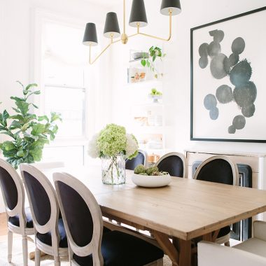 Kathy Kuo Home Lyle Lodge Reclaimed Pine Dining Table $1452 vs Target Beekman 1802 Farmhouse Harvester Rectangle Dining Table $550 farmhouse look for less copycatchic luxe living for less budget home decor and design daily finds