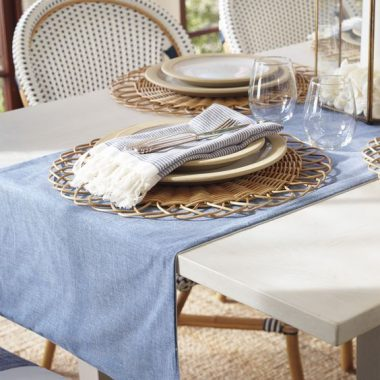 Serena and Lily Round Rattan Placemat for $28 Pier 1 Water Hyacinth Placemat $8 round rattan placemat look for less copycatchic luxe living for less budget home decor and design daily finds