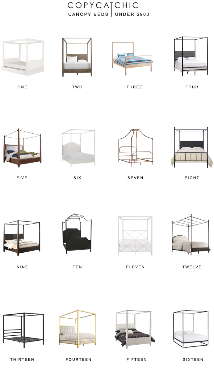 All of our favorite canopy beds on a budget. Want a canopy bed for less than $900? Here are our picks! copycatchic luxe living for less budget home decor and design