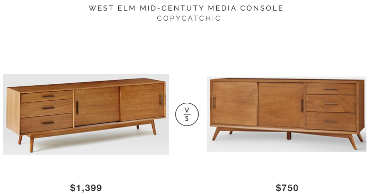 Daily Find West Elm Mid Century Media Console Copycatchic