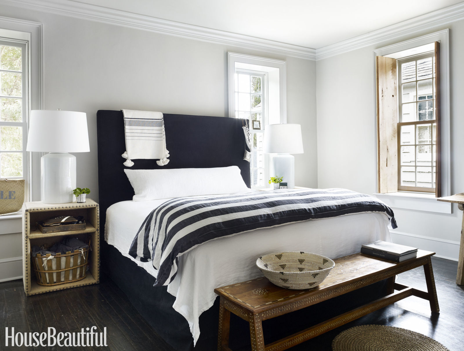 Room redo classic striped bedroom copycatchic for House beautiful bedrooms