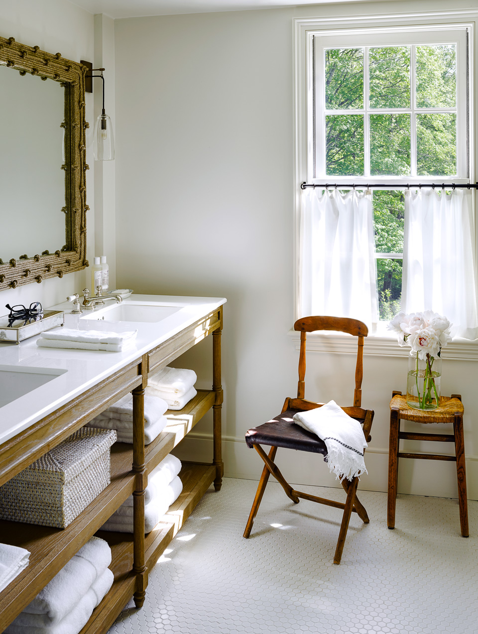 Daily Find | Restoration Hardware Weathered Oak Double Washstand